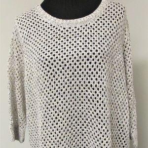 INC Women's (NWT) 3/4 Sleeve Open Knit Sweater